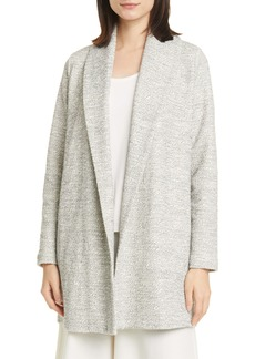 Eileen Fisher Shawl Collar Organic Cotton Blend Jacket (Regular & Petite)