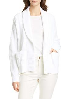 Eileen Fisher Shawl Collar Organic Cotton Cardigan