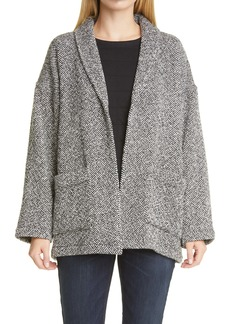 Eileen Fisher Shawl Collar Organic Cotton Jacket