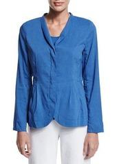 Eileen Fisher Shawl-Collar Peplum Jacket