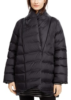 Eileen Fisher Shawl-Collar Quilted Coat