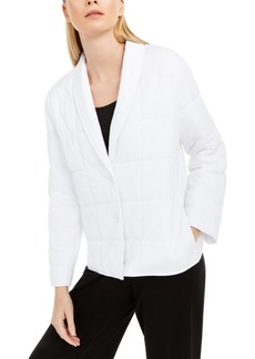 Eileen Fisher Shawl-Collar Quilted Jacket
