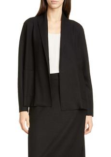 Eileen Fisher Shawl Collar Short Wool Jacket (Regular & Petite)