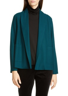 Eileen Fisher Shawl Collar Short Wool Jacket (Regular & Petite)