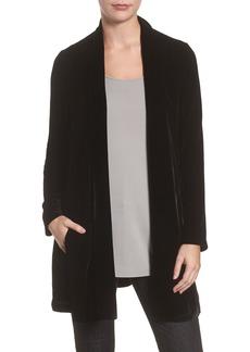 Eileen Fisher Shawl Collar Velvet Jacket (Regular & Petite)