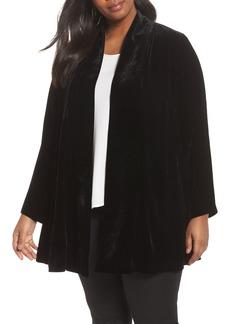 Eileen Fisher Shawl Collar Velvet Jacket (Plus Size)