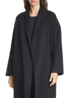 Eileen Fisher Shawl Collar Wool & Cashmere Coat