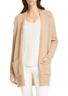 Eileen Fisher Shawl Collar Wool & Mohair Blend Long Cardigan