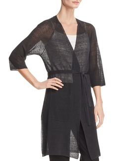 Eileen Fisher Sheer Duster Wrap Cardigan