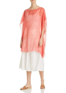 Eileen Fisher Sheer Poncho Top