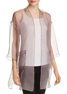 Eileen Fisher Sheer Silk Organza Open Jacket