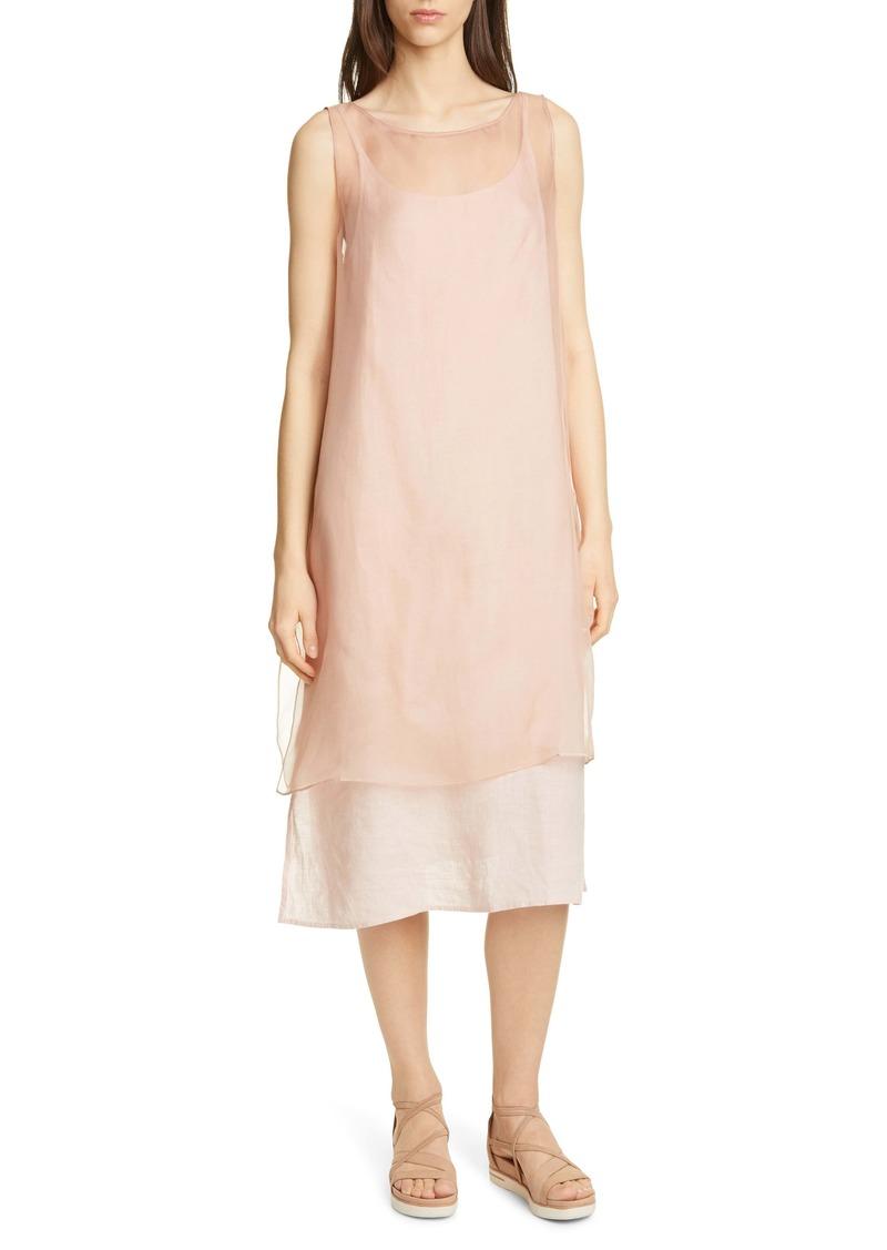 Eileen Fisher Sheer Silk Overlay