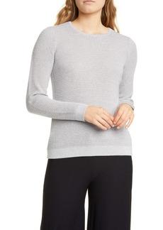 Eileen Fisher Shimmer Merino Wool Blend Top