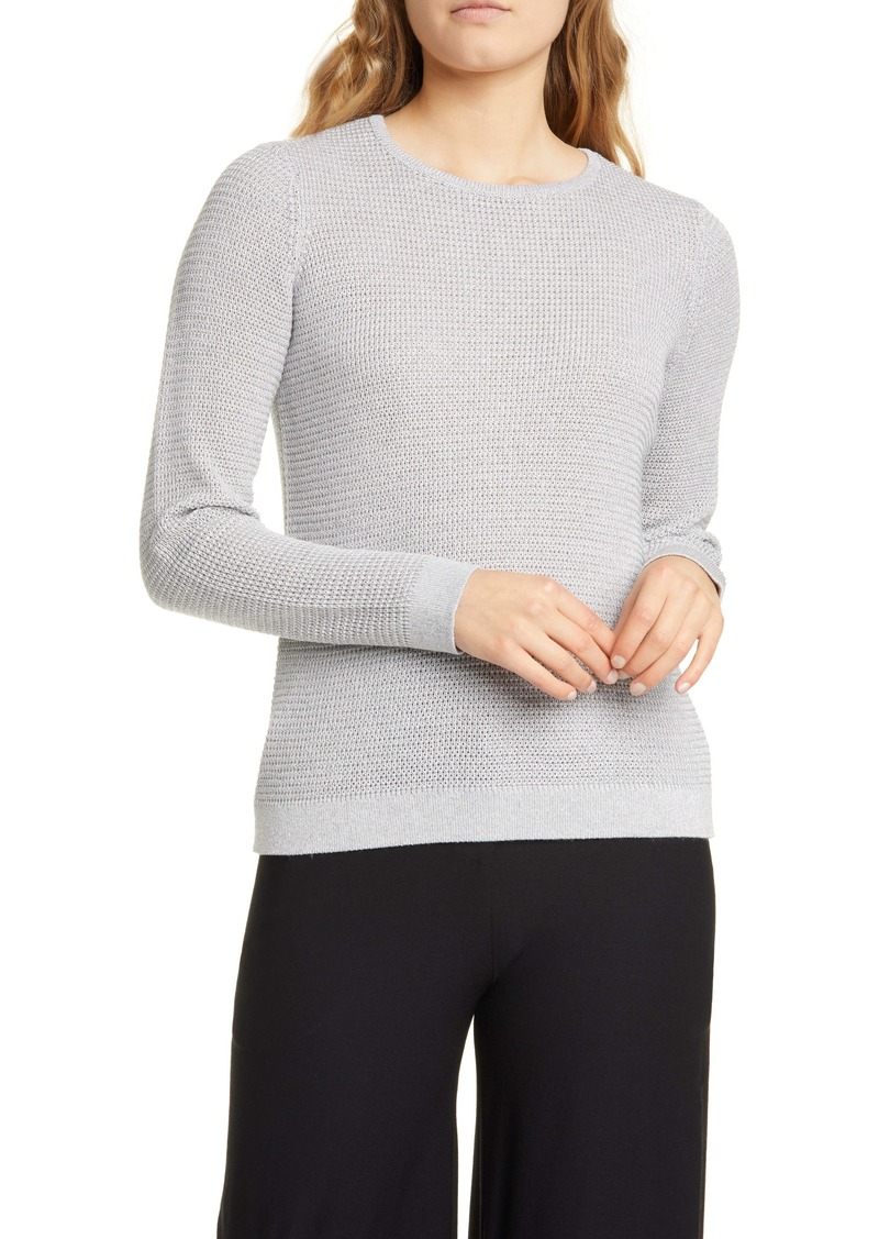 Eileen Fisher Shimmer Merino Wool Blend Top