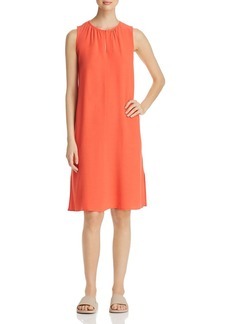 Eileen Fisher Shirred Keyhole Dress