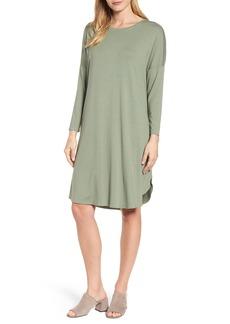 Eileen Fisher Shirttail Jersey Shift Dress (Regular & Petite)