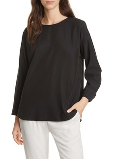 Eileen Fisher Shirttail Tencel® Lyocell Blend Top