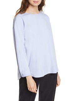 Eileen Fisher Shirttail Tencel® Lyocell Blend Top