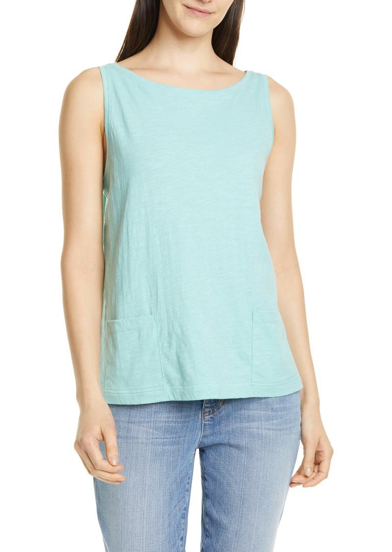 Eileen Fisher Short Organic Cotton Shell (Regular & Petite)