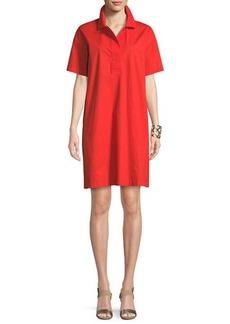 Eileen Fisher Short-Sleeve Collared Shift Dress