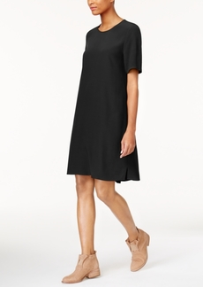 Eileen Fisher Tencel Blend Short-Sleeve Dress, Regular & Petite