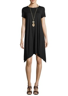 Eileen Fisher Short-Sleeve Jersey Dress