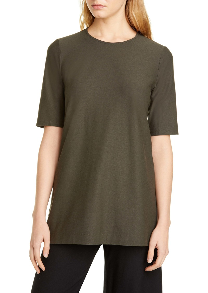 Eileen Fisher Short Sleeve Knit Tunic