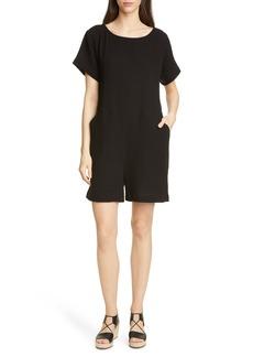 Eileen Fisher Short Sleeve Organic Cotton Romper (Regular & Petite)