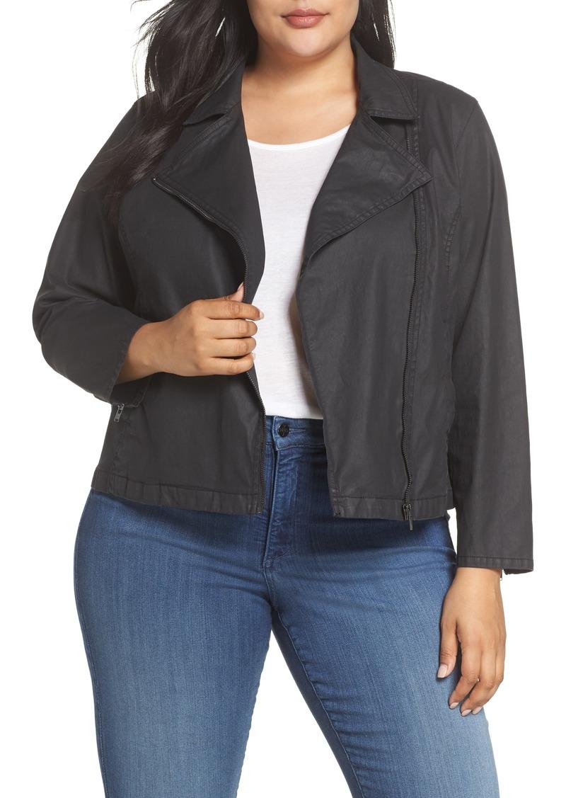 d865ea6947eb Eileen Fisher Eileen Fisher Short Waxed Cotton Jacket (Plus Size ...