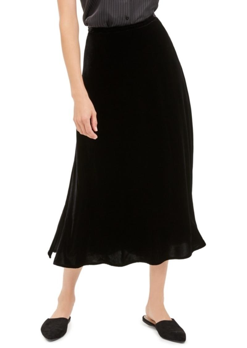 Eileen Fisher Side-Slit A-Line Skirt
