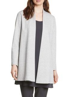 Eileen Fisher Side Slit Organic Cotton Blend Jacket (Regular & Petite)