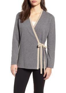 Eileen Fisher Side Tie Cashmere Blend Cardigan