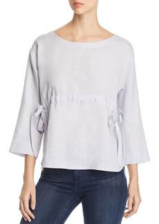 Eileen Fisher Side-Tie Linen Top - 100% Exclusive