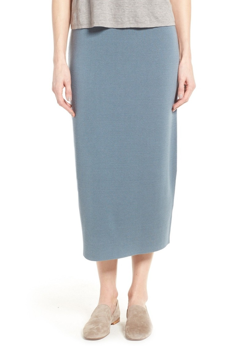0559586a5c Eileen Fisher Silk & Cotton Interlock Knit Pencil Skirt (Regular ...
