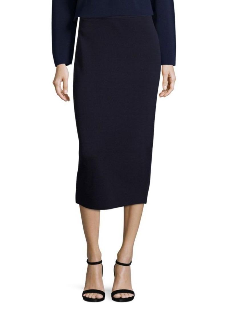 Eileen Fisher Silk & Organic Cotton Interlock Pencil Skirt