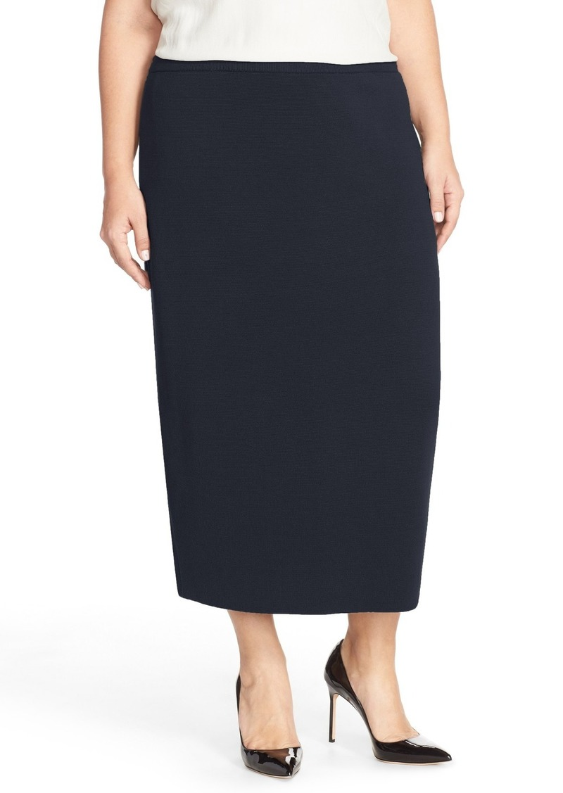 20147e9cd9 Eileen Fisher Silk & Organic Cotton Knit Midi Length Pencil Skirt (Plus  Size)