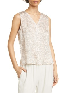 Eileen Fisher Silk & Organic Cotton Sleeveless Top