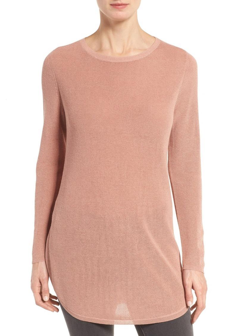 Eileen Fisher Eileen Fisher Silk & Organic Cotton Tunic Sweater ...