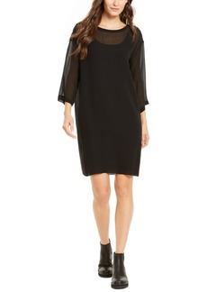 Eileen Fisher Silk 3/4-Sleeve Dress