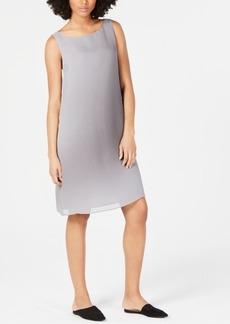 Eileen Fisher Silk Bateau-Neck Sleeveless Dress, Regular & Petite
