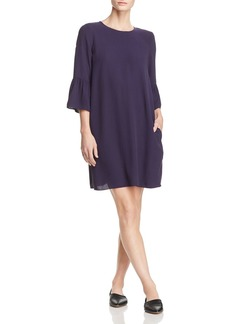 Eileen Fisher Silk Bell-Sleeve Dress