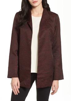Eileen Fisher Silk Blend Jacquard Jacket (Regular & Petite)