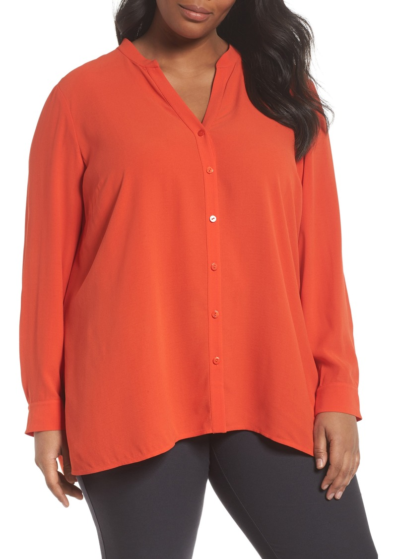 Eileen Fisher Eileen Fisher Silk Blouse Plus Size Casual Shirts