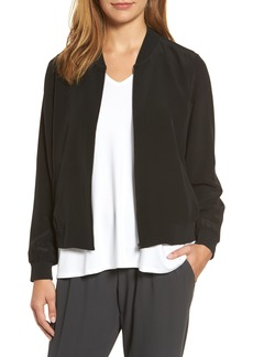 Eileen Fisher Silk Bomber Jacket