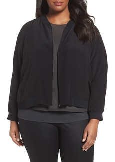 Eileen Fisher Silk Bomber Jacket (Plus Size)