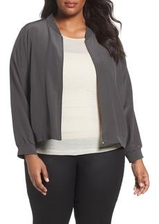 Eileen Fisher Silk Bomber Jacket (Plus Size)