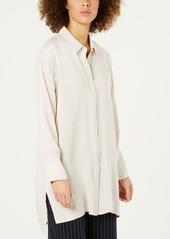 Eileen Fisher Silk Button-Front Shirt