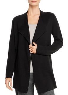 Eileen Fisher Silk-Cotton Knit Open Jacket