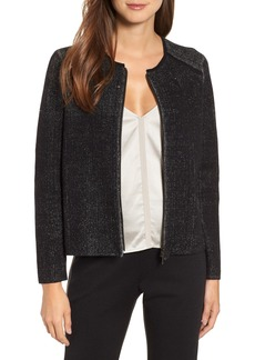 Eileen Fisher Silk Cotton Zip Front Jacket (Regular & Petite)
