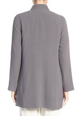Eileen Fisher Silk Crepe Long Kimono Jacket
